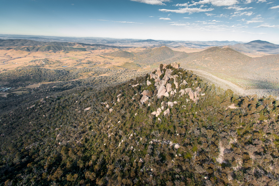 Aerial view of Ngunnawal Country