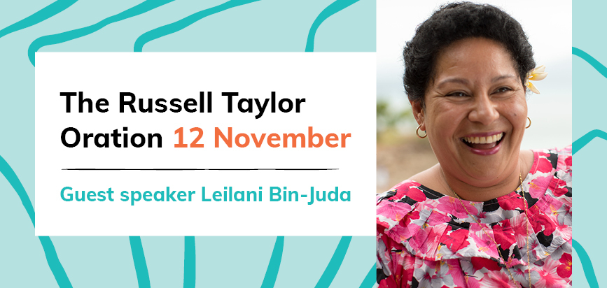 Russell Taylor Oration banner